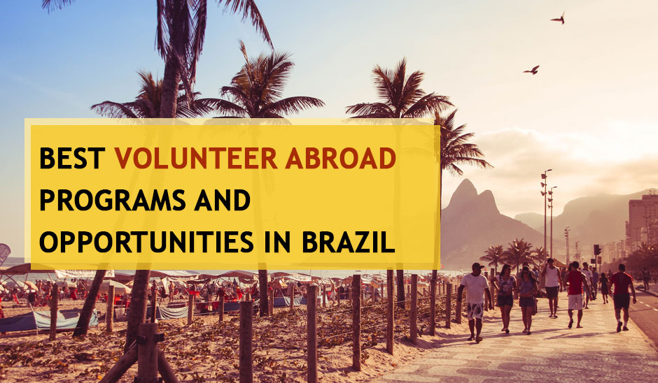 5 Best Volunteer Abroad Programs and  Opportunities in Brazil for Year 2020