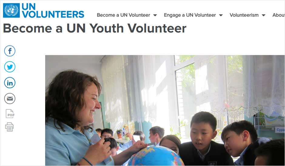 UN Volunteers for High School Students