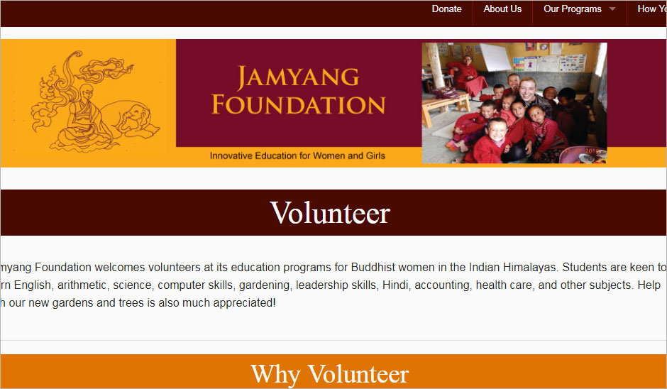 Volunteer in Buddhist  Monastery India with Jamyang