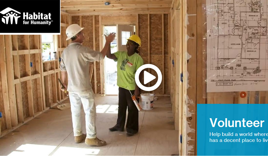 volunteer with habitat for humanity
