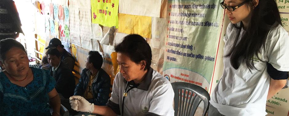 volunteer in medical healthcare center